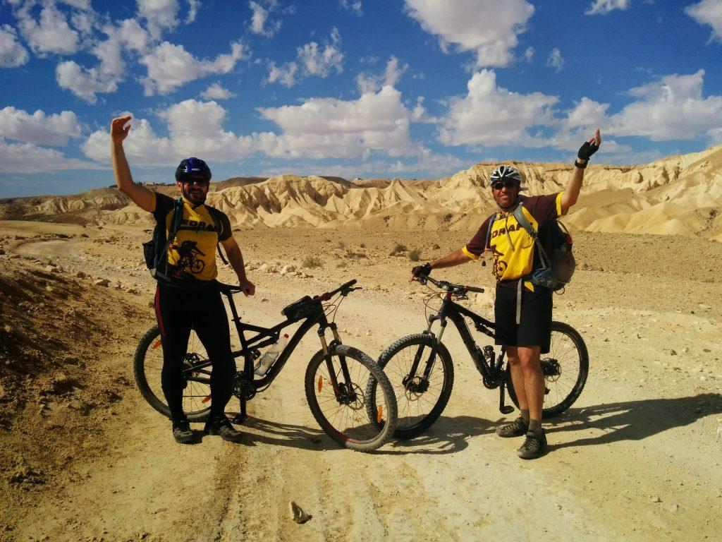 Biking at the desert